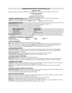 Material Safety Data Sheet - Dudley Chemical Corporation