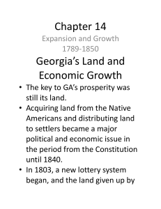 Georgia`s Land and Economic Growth