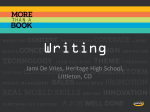 Writing-Jami Devries