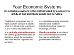 Four Economic Systems - Goshen Central School District
