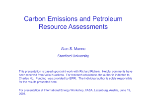 Carbon Emissions and Petroleum Resource