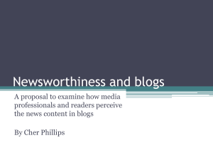 Newsworthiness and blogs