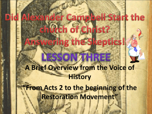 Lesson Three - WINTERPARK CHURCH of CHRIST