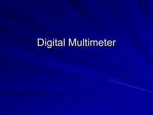 How to use a digital multimeter PowerPoint