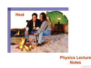 Heat As Energy Transfer Problem