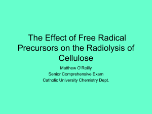 The Effect of Irradiatied Adsorbed Species on cellulose by ESR