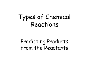PowerPoint - Types of Chemical Reactions
