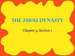 The Zhou Dynasty - Madeira City Schools