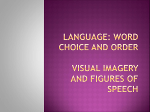 Word Choice and Order Visual Imagery and Figures of Speech