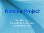 Number Project