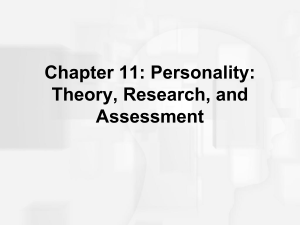 Chapter 11: Personality