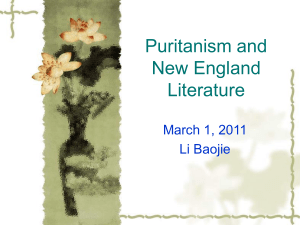 Puritanism and New England Literature