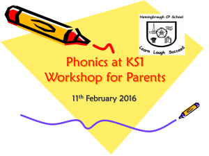 Phonics Workshop for Parents