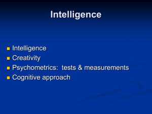 Rice U. Presentation on Intelligence Quotient