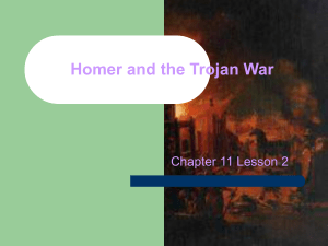 Homer and the Trojan War