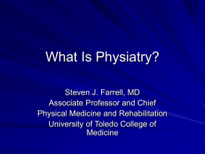 What Is Physiatry? - University of Toledo