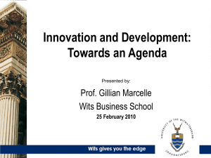 Innovation and Development: Towards an Agenda