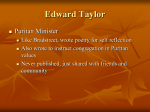 Notes on Edward Taylor`s