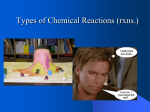 Chemical Reactions (L1)