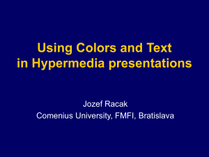 Using Colors and Text in Hypermedia presentation