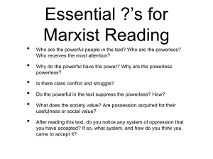 Essential ?`s for Marxist Reading
