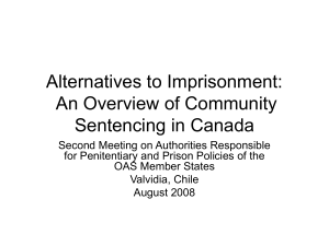 An Overview of Sentencing in Canada