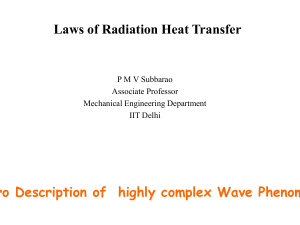 Radiation Heat Transfer Between Real Surfaces