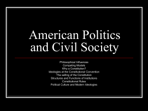 American Politics and Civil Society