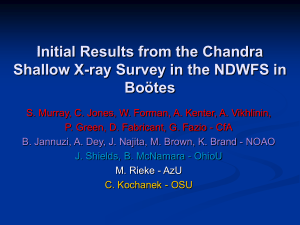 Initial Results from the Chandra Shallow X