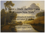 Opening Night Presentation - Clinton`s Ditch: the Erie Canal in WNY