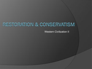 Conservatism, Liberalism, Romanticism and Nationalism