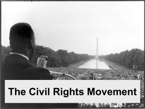 The Civil Rights Movements