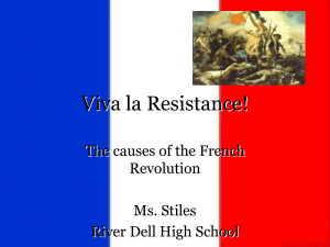 Viva la Resistance! - River Dell Regional School District