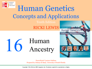 Chapter 16 - Human Ancestry