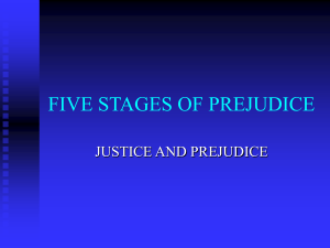 FIVE STAGES OF PREJUDICE