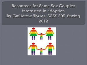 Resources for Same Sex Couples interested in adoption
