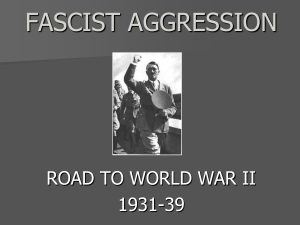 WW2--Fascist Aggression