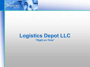 "Logistics Depot LLC ""Right on Time"""