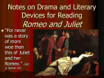 Romeo and Juliet: Literary Terminology for Act I