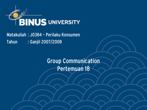 Group Communication Pertemuan 18