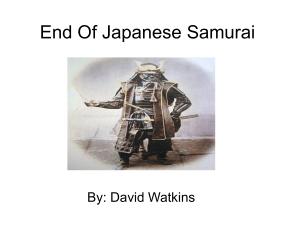 End Of Japanese Samurai