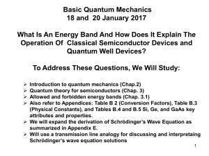 BasicQuantumMechanics18And20January2017