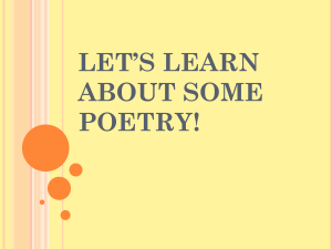 Let`s learn about some poetry!