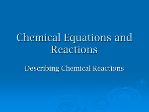 Chemical Equations and Reactions notes File