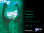 Dynamic Business Planning