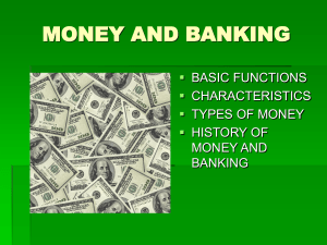 history of money and banking