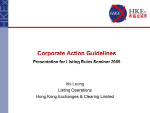 Corporate Action Guidelines