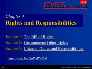 Chapter 4: Rights and Responsibilities