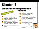 Chapter 16- Understanding Accounting and Financial Statements