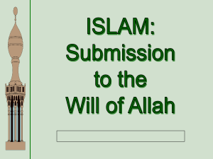 Islam PPT - AISG SP Moodle